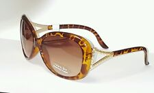 3D Leopard Brass Rhinestone Butterfly Sunglasses by Foster Grant International