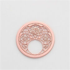 22mm Rose Gold discs Round  flower for Glass Living Memory Locket Floating Charm