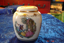 Lord Nelson Pottery Pomander Pot Two Lovely Scenes Colourful & Pretty Hand Craft