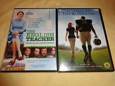 THE ENGLISH TEACHER & THE BLIND SIDE-2 movies-LILY COLLINS, SANDRA BULLOCK-DVD