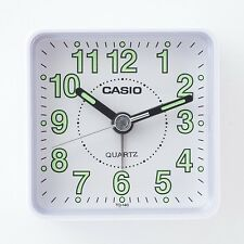 Casio TQ140-7D Travel Desk Quartz Alarm Clock Neobrite Resin Case Small Portable
