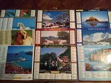 lot 10 calendriers Almanach du facteur de 1996 à 2014