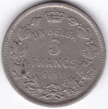1931 belgique 5 francs *** collector ***