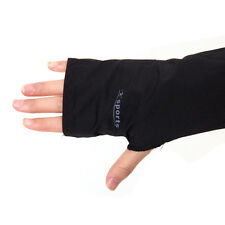 Black Cooling Fingerless Gloves Arm Hand Cover Sleeves For UV Sun Protection