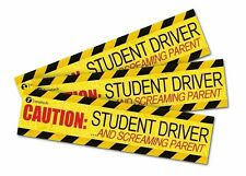 Zone Tech 3 Caution Student Driver and Screaming Parent Magnets Bumper Decal