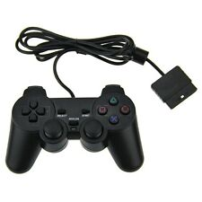 NUOVO cablata DUAL SHOCK Controller Analogico JOYPAD GAMEPAD PER ps2 PLAYSTATION 2 Nero