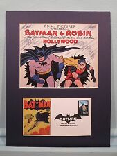 Saluting the DC Comic Book Heroes Batman & Robin & First Day Cover