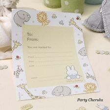 Baby Miffy - Invites & Envelopes x 10  - Birthday/Christening/Baby Shower