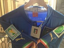 ITALY WORLD CUP 2014 WITH PATCH NO MATCH WORN ISSUED SIZE MEDIUM