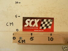 STICKER,DECAL SCX 1:32 SCALE RACING SYSTEM WWW,SCX.ES MODELCARS