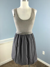J Crew XS Sweater Dress Jumper Gray Excellent Career Casual Bubble