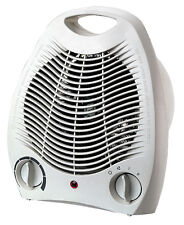 NEW 2000W SILENT ELECTRIC FAN HEATER FLOOR PORTABLE BLOWER HOT&COLD 240V WHITE