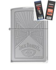 Zippo 5413 Jack Daniels Old #7 Lighter with *FLINT & WICK GIFT SET*