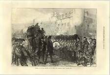 1871 Funeral Of Sir John Burgoyne Procession Passing Traitors Gate