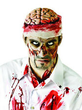 Bloody Brain Headcover Hat Headpiece Adult Zombie Halloween Costume Accessory
