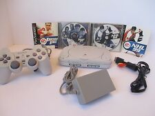 Sony PlayStation 1 PS1 PS one Mini Slim Console bundle - 2 games, Tested & Works
