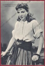 CLAUDETTE COLBERT 21 ATTRICE ACTRESS ACTRICE FRANCE Cartolina NON FOTOGRAF. 1938
