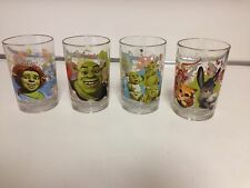 SHREK THE THIRD Mc DONALD'S GLASSES SET Of 4 COMPLETE 2007