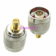 1pce Adapter Connector N male plug to RP-SMA female plug for wireless router