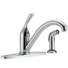 NEW DELTA 440-DST USA MADE SINGLE HANDLE KITCHEN FAUCET LEVER WITH SPRAY CHROME
