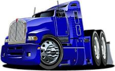 Truck Blue Big Rig Wall Art Sticker Free Postage