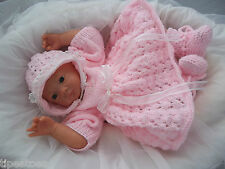 Baby Knitting Pattern DK 28 TO KNIT Girls Dress, Bonnet & Booties Reborn Dolls