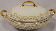 LIMOGES ELITE WORKS BAWO & DOTTER YELLOW ROSE BWD13 ROUND COVERED DISH