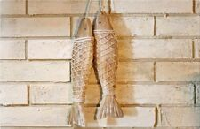 2 Pieces Wooden Fish Nautical Door & Home Decoration Ornament Wall Hanging NWT