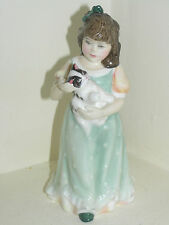 ROYAL DOULTON  HN3697 GIRL FIGURE holding cat BEAUTIFUL 1ST QUALITY