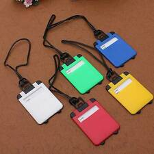 Luggage Tags Travel Suitcase Baggage Plastic Labels Name Address Identifier