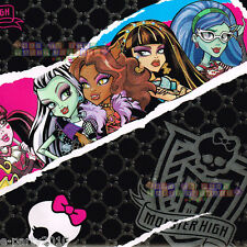 Off Roll MONSTER HIGH GIFT WRAP ~ Birthday Party Supplies Wrapping Paper Folded