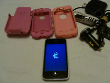 Apple iPhone 3GS - 8GB - Black  Smartphone W/ Pink Otter Box