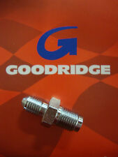 GOODRIDGE CHROME MALE BRAKE LINE FITTING 7/16 24 IF STRAIGHT BIG DOG HARLEY AIH