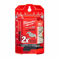 NEW MILWAUKEE TOOL 48-22-1952 PACK OF (50) UTILITY HOOK KNIFE BLADES & DISPENSER