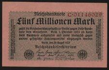 Deutsches Reich Banknote 104a 5 Millionen Mark 1923