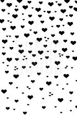 Hearts Valentines background design A6 clear craft stamp. Small print pattern.