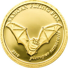 Ek / 1 Dollar Gold Coin Samoa 2010 Flying Fox