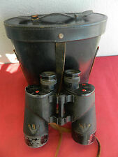 WW2 1945 BINOCULARS REL CANADIAN   MILITARY  7X50  AND CASE.