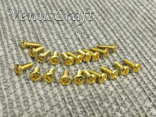 20pc high quality Guitar Pickguard Screws - Gold - for Fender Stratocaster