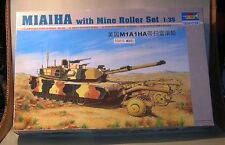 1/35th scale TRUMPETER M1A1HA with Mine Roller tank kit