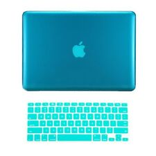 "2 in1 AQUA BLUE Crystal Case for Macbook Pro 13"" A1425 Retina display+Key Cover"