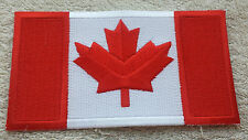 CANADA FLAG PATCH Embroidered Badge Iron or Sew on 6.4cm x 11.5cm Canadian Maple
