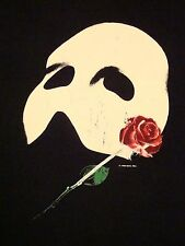 Vintage Phantom Of The Opera Mask Rose Musical Movie 80's 1986 T Shirt XL