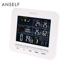Wireless Weather Station Digital Thermometer Hygrometer Alarm Clock Home A8F4