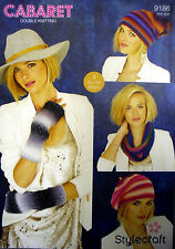 STYLECRAFT CABARET, LADIES, SNOOD, LONG MITTENS & HATS  DOUBLE KNITTING PATTERN