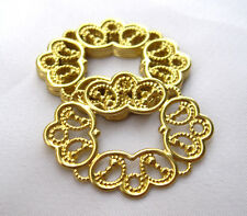 Stamping Filigree Raw Brass Findings DIY Crafts for Jewelry Design bf121(10pcs)