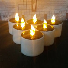 1 PC Solar Powered Led Candle Flameless Warm White Tealight Wedding Decoration