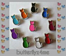 ** CAT** Floating Charm (YOU CHOOSE COLOR)For Origami Owl/Living Memory Lockets