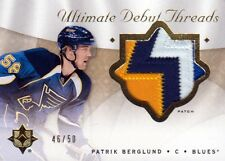 08-09 Ultimate Collection DEBUT PATCHES xx/50 Made! Patrik BERGLUND - Blues