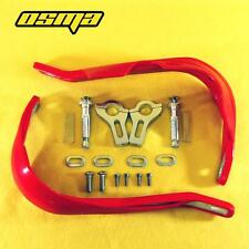 Red Handguard Brush Hand Guards Dirt bIke Sreetfigter Motorx MX MotoCross Pair